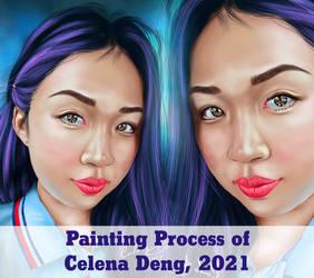 Celena Deng, 2021 Gif Painting Process by carlosalbertosalva1