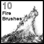 10 Fire Brushes for Paint Shop by creativemaze