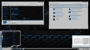 HUD Machine Blue White for Windows 7