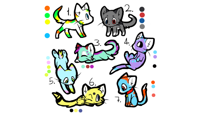 Cat adoptables! by PoMlovah611