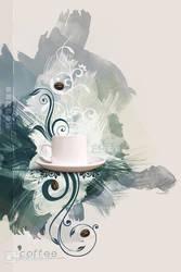 Coffee Canvas Wallpaper by kuschelirmel