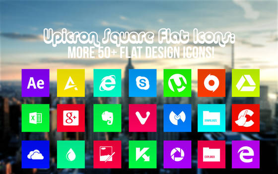 Flat Icon Pack (+50 Design Icons!) ICO+PNG