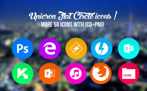 Circle Icon Pack (+50 Icons with ICO+PNG! )