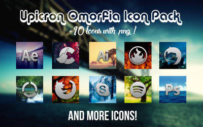 Omorfia Icon Pack ( +10 icons w/PNG ! )