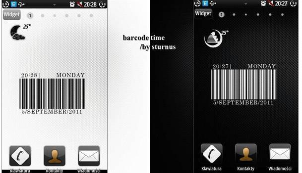 'BARCODE time' widget