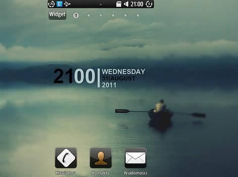 'stylish DIGITAL clock' widget