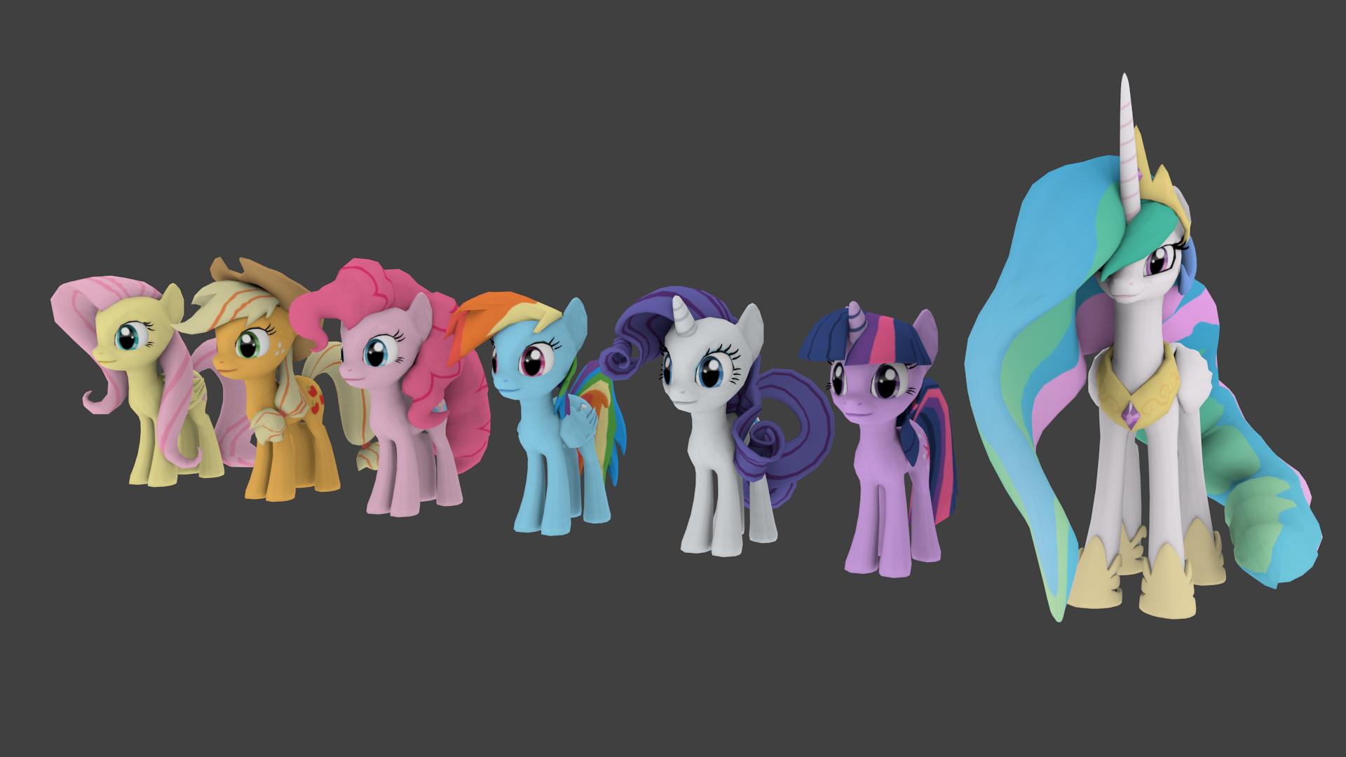 Cheerilee's Gmod Ponies for Blender Ver. 1.1.1
