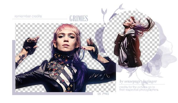 Pack Png 276 - Grimes by SensePngs