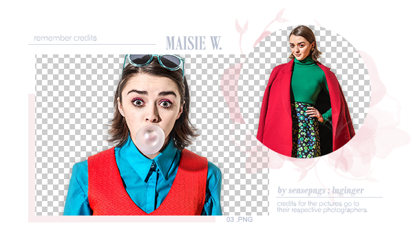 Pack Png 294 - Maisie Williams by SensePngs
