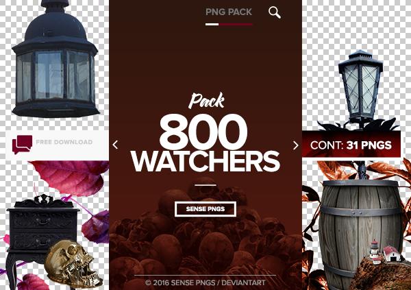 Pack Png 417 - 800 Watchers. by SensePngs
