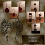 Lamp set wicasa-stock