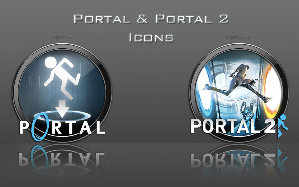 portal and portal 2 icons by zahnib on deviantart. Black Bedroom Furniture Sets. Home Design Ideas