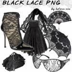 BLACK LACE PNG