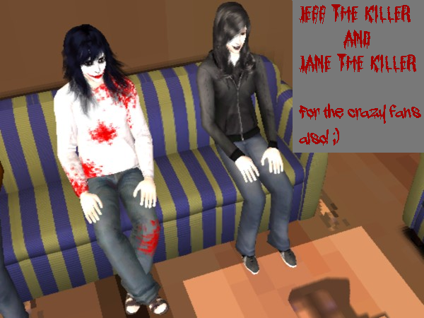 Jane and Jeff The Killer For The Sims 2 by SnowxChan