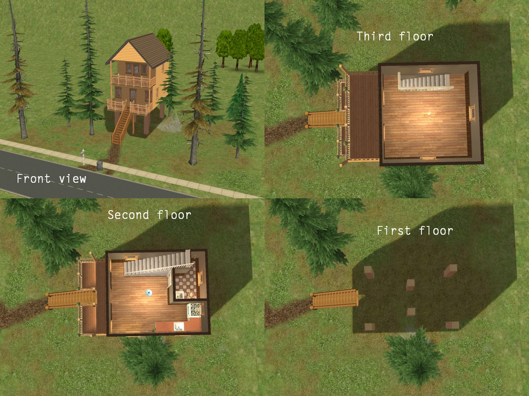 The Sims 2: The Lonely Forest Cabin by SnowxChan on DeviantArt