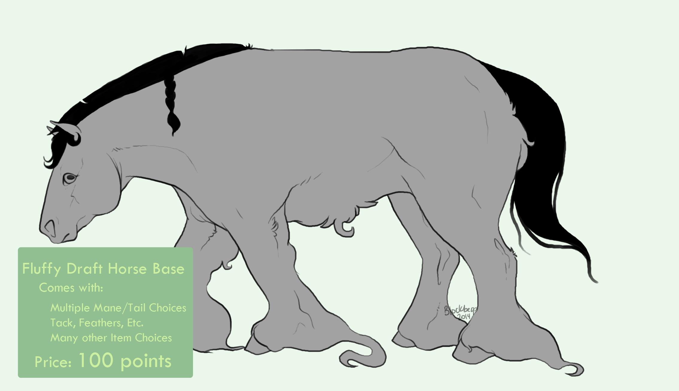 Fluffy Draft Horse Base By Blockbeap On Deviantart
