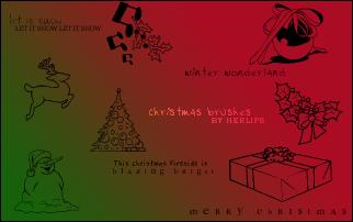 Christmas Brushes - ps7 by lefirebolt