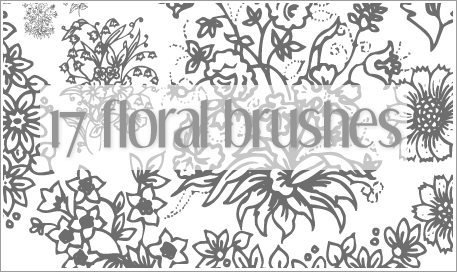 Floral Brushes for PS7 by lefirebolt