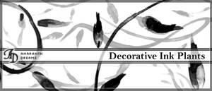 Decorative Inked Plants