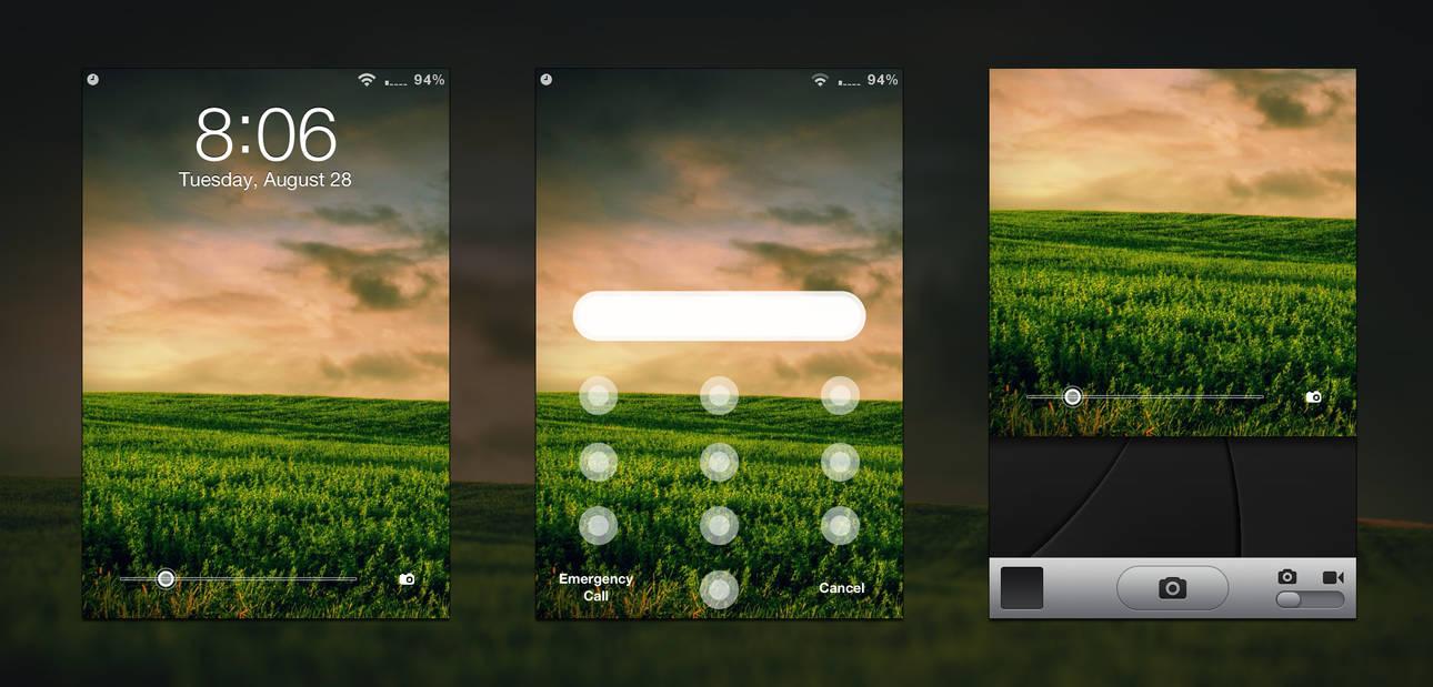 Minimal Lockscreen Theme