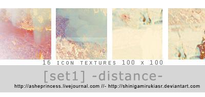 Distance - Texture set 01 by ShinigamiRukiaSR