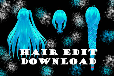 TDA Hair Edit - MMD DL by Meennie46