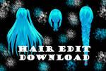 TDA Hair Edit - MMD DL