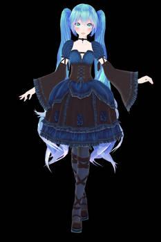 TDA Nightmare Gothic Miku - MMD DL