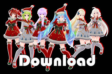 [Christmas Gift] TDA Christmas Pack 2018 - MMD DL by Meennie46