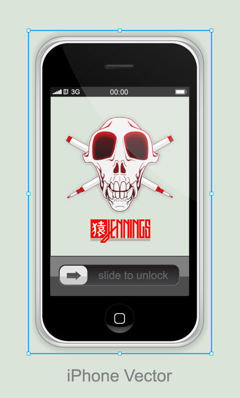 iPhone Vector Stock by Ben-Is-A-Designer