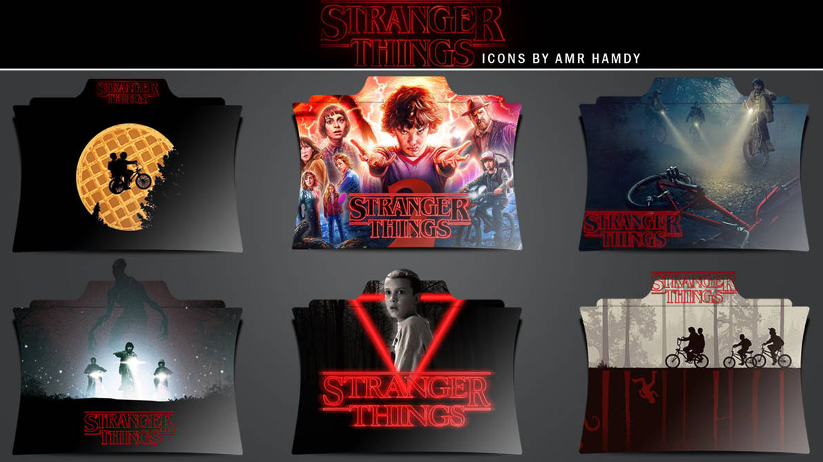 Stranger Things : TV Series Icons, Png and Icns V2 by Amr