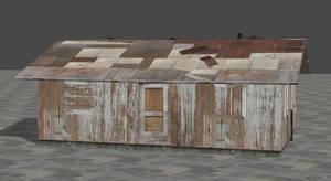 Small abandoned shack/house for XNALara XPS