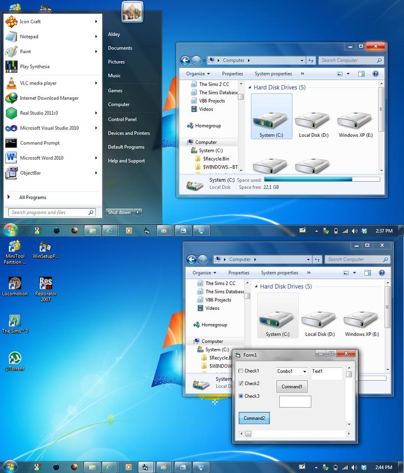 Windows 8 - 7 Mix Aero VS by arudei6209