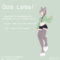 [MMD//DL] Dog Legs by adrekiyo