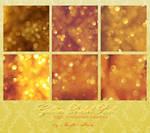 Golden Bokeh Squares