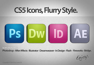 CS5 Icons Flurry Style. UPDATE by LewisJM