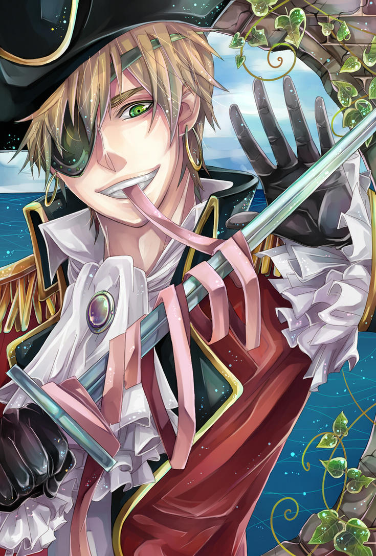 Pirate!England X Male!Pirate!Reader ~ Masquerade 5 by