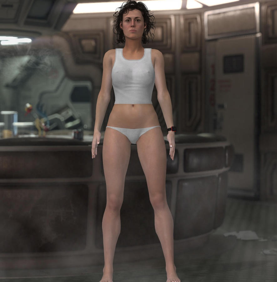 Alien: Ripley in lingerie V2 by jc-starstorm