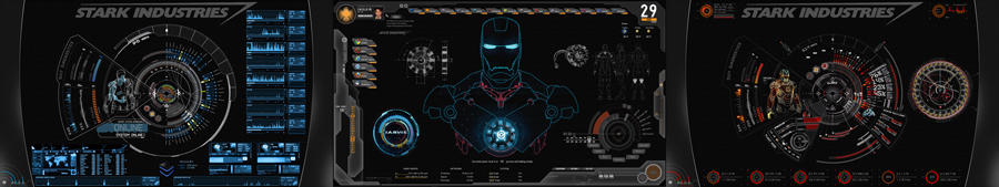 SHIELD+JARVIS UI 3 Displays by edreyes