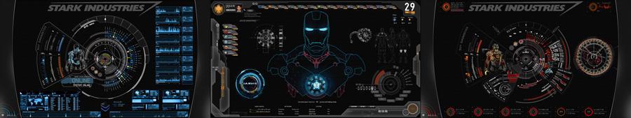 SHIELD+JARVIS UI 3 Displays