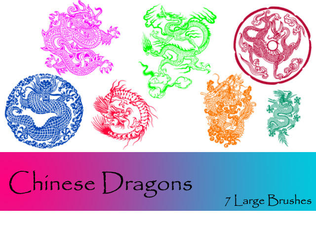 Chinese Dragons by TD-Brushes