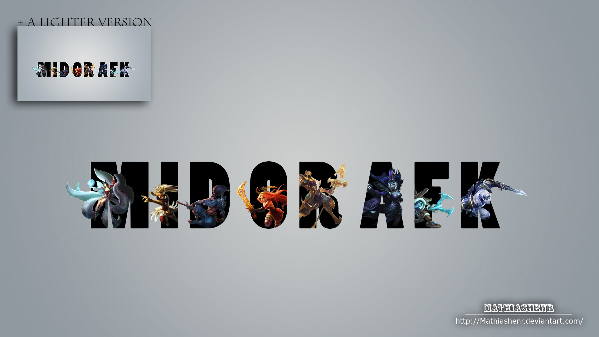 League of Legends MID OR AFK WALLPAPER by Mathiashenr on ...