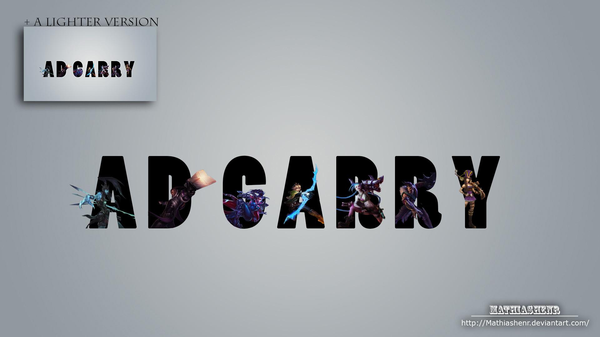 League of Legends AD CARRY WALLPAPER by Mathiashenr on ...