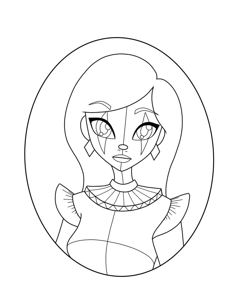 harlequin coloring pages | Harlequin Clown coloring page by EchoIsWeird on DeviantArt