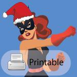 Superhero Christmas Card (Black Cat) (printable) by CodeAndReload