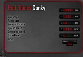 Red Blocks Conky