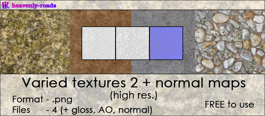 Resources - Varied textures 2 + normal maps by heavenly