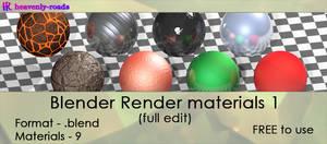 Resources - Blender render materials 1