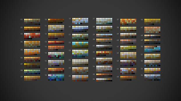 54 aco palettes