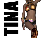 Tina Armstrong's Gold Outfit for Genesis 2 Female